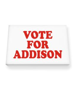 Vote For Addison Canvas square