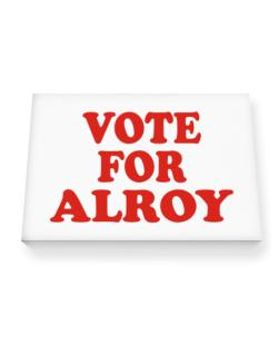 Vote For Alroy Canvas square