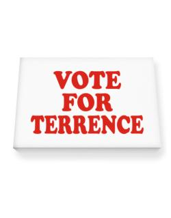 Vote For Terrence Canvas square