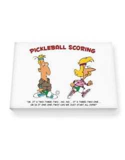 Pickleball Scoring Canvas square