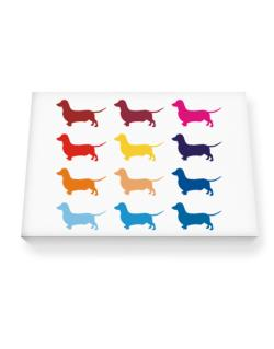 Colorful Dachshund Canvas square