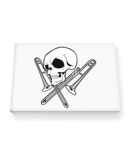 Skull and Trombone Canvas square