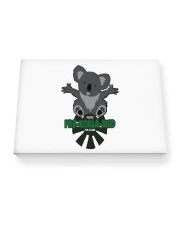 Koalafied for a hug Canvas square