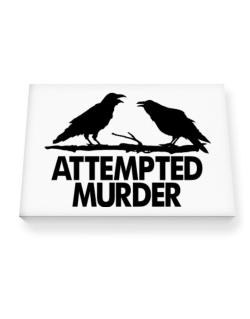 Crows Attempted Murder Canvas square