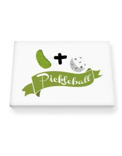 Pickle plus ball equals pickleball Canvas square