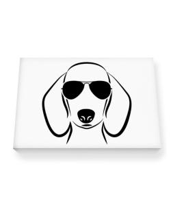Dachshund Sunglasses Canvas square