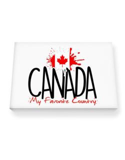 Canada my favorite country Canvas square