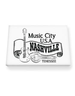 Music city Usa Nashville Tennessee Canvas square