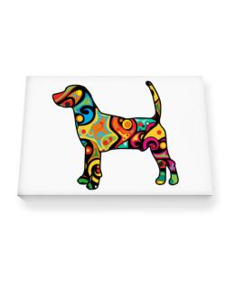 Psychedelic North Country Beagle Canvas square