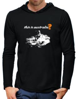 This Is Australia? - Astronaut Hooded Long Sleeve T-Shirt-Mens