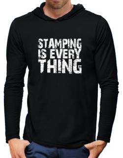 Stamping Is Everything Hooded Long Sleeve T-Shirt-Mens