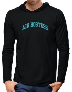 Air Hostess Hooded Long Sleeve T-Shirt-Mens