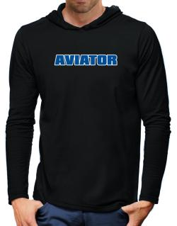 Aviator Hooded Long Sleeve T-Shirt-Mens