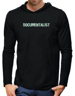 Documentalist Hooded Long Sleeve T-Shirt-Mens