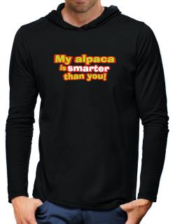 My Alpaca Is Smarter Than You! Hooded Long Sleeve T-Shirt-Mens