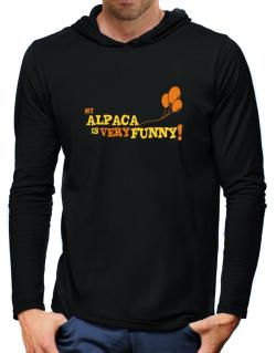 My Alpaca Is Very Funny Hooded Long Sleeve T-Shirt-Mens