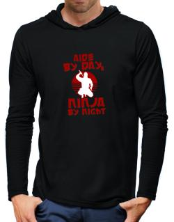 Aide By Day, Ninja By Night Hooded Long Sleeve T-Shirt-Mens