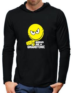Bring Me A ... Gin And Tonic Hooded Long Sleeve T-Shirt-Mens