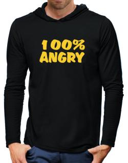 100% Angry Hooded Long Sleeve T-Shirt-Mens