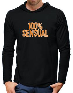 100% Sensual Hooded Long Sleeve T-Shirt-Mens