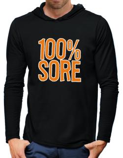 100% Sore Hooded Long Sleeve T-Shirt-Mens
