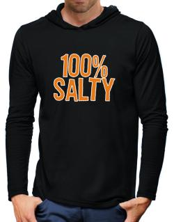 100% Salty Hooded Long Sleeve T-Shirt-Mens