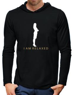 I Am Relaxed - Female Hooded Long Sleeve T-Shirt-Mens