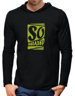 So Relaxed Hooded Long Sleeve T-Shirt-Mens