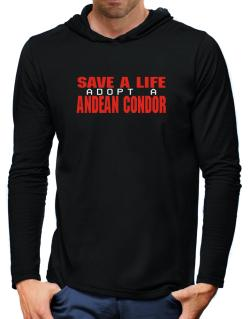 Save A Life, Adopt An Andean Condor Hooded Long Sleeve T-Shirt-Mens