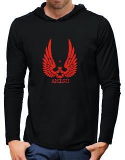 Amish - Wings Hooded Long Sleeve T-Shirt-Mens