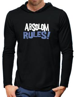 Absolom Rules! Hooded Long Sleeve T-Shirt-Mens