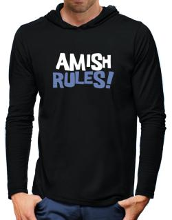 Amish Rules! Hooded Long Sleeve T-Shirt-Mens