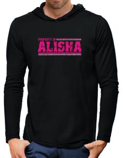 Property Of Alisha - Vintage Hooded Long Sleeve T-Shirt-Mens