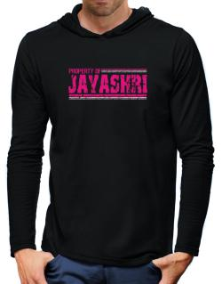 Property Of Jayashri - Vintage Hooded Long Sleeve T-Shirt-Mens