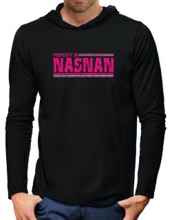 Property Of Nasnan - Vintage Hooded Long Sleeve T-Shirt-Mens
