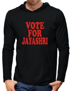 Vote For Jayashri Hooded Long Sleeve T-Shirt-Mens
