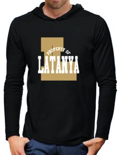 Property Of Latanya Hooded Long Sleeve T-Shirt-Mens