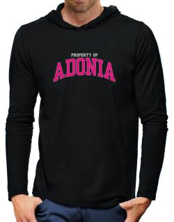 Property Of Adonia Hooded Long Sleeve T-Shirt-Mens
