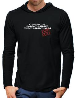 Office Machine Technician - Off Duty Hooded Long Sleeve T-Shirt-Mens