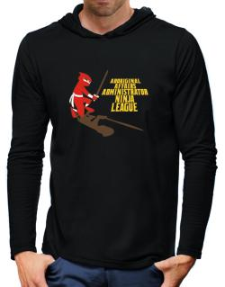 Aboriginal Affairs Administrator Ninja League Hooded Long Sleeve T-Shirt-Mens