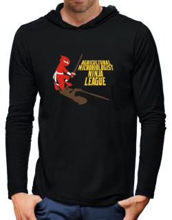 Agricultural Microbiologist Ninja League Hooded Long Sleeve T-Shirt-Mens