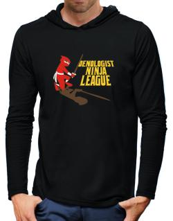 Oenologist Ninja League Hooded Long Sleeve T-Shirt-Mens