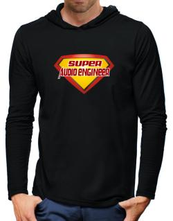 Super Audio Engineer Hooded Long Sleeve T-Shirt-Mens