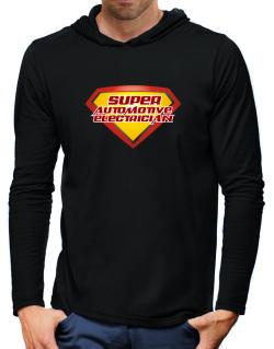 Super Automotive Electrician Hooded Long Sleeve T-Shirt-Mens