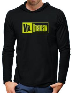 Mr. Robertson Hooded Long Sleeve T-Shirt-Mens