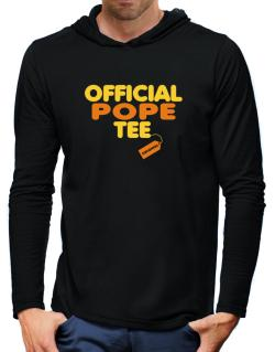 Official Pope Tee - Original Hooded Long Sleeve T-Shirt-Mens