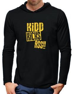 Kidd Kicks Ass!! Hooded Long Sleeve T-Shirt-Mens
