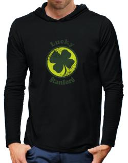 Lucky Stanford Hooded Long Sleeve T-Shirt-Mens