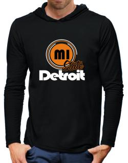 Detroit - State Hooded Long Sleeve T-Shirt-Mens