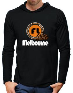 Melbourne - State Hooded Long Sleeve T-Shirt-Mens